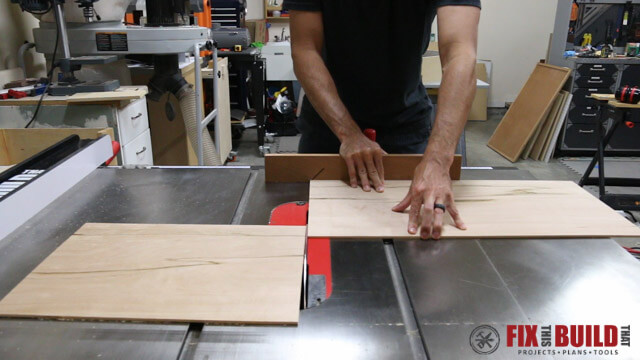 cutting knock down sides on tablesaw