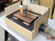 how to build a DIY downdraft sanding table