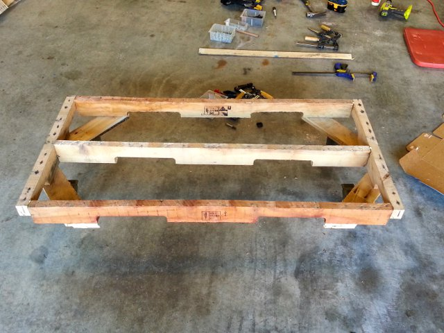 Base frame with wheels