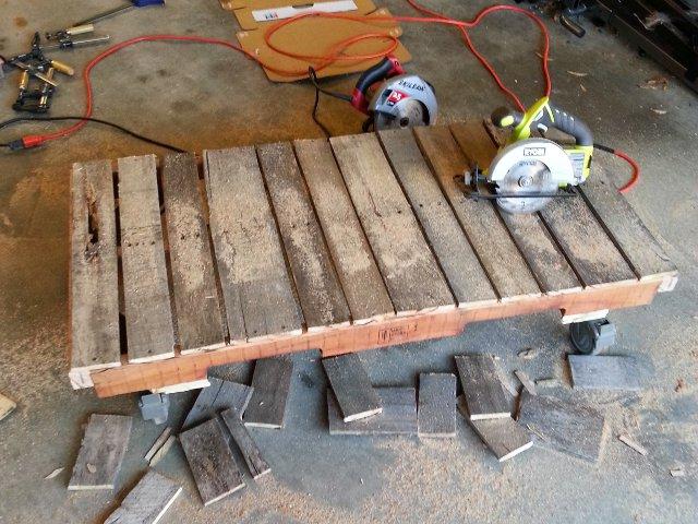 Cutting deckboards