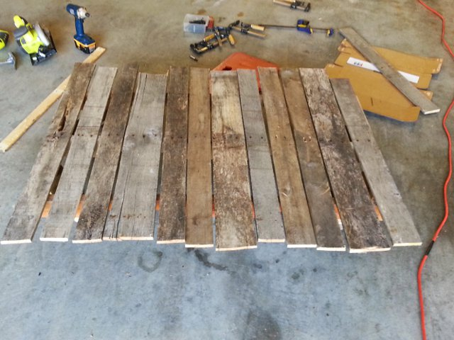 Deckboards attached