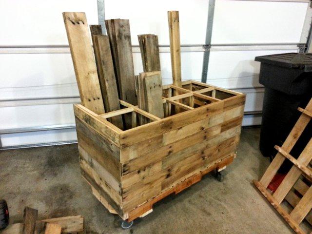 Mobile Pallet Wood Storage   FixThisBuildThat