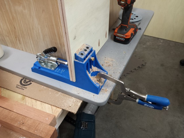 Pocket hole drilling