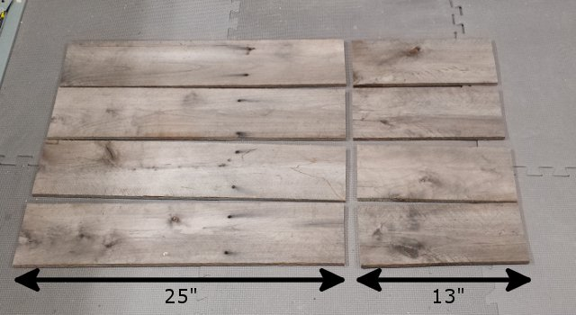 Cut Pallet Boards
