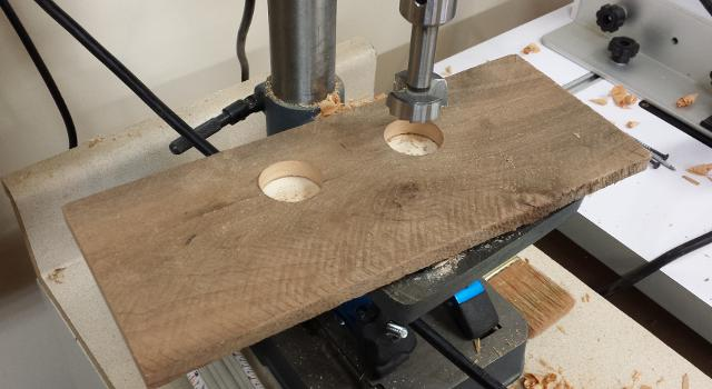 Drill press holes