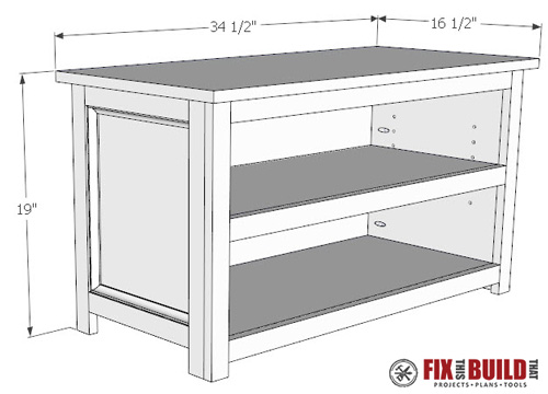 Adjule Shoe Storage Bench Plans