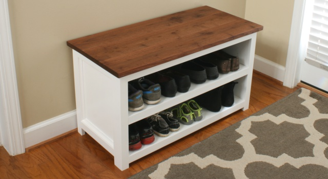 Diy Adjule Shoe Storage Bench Plans