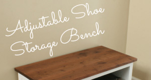 DIY Adjustable Shoe Storage Bench Plans