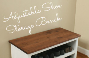 DIY Adjustable Shoe Storage Bench Plans