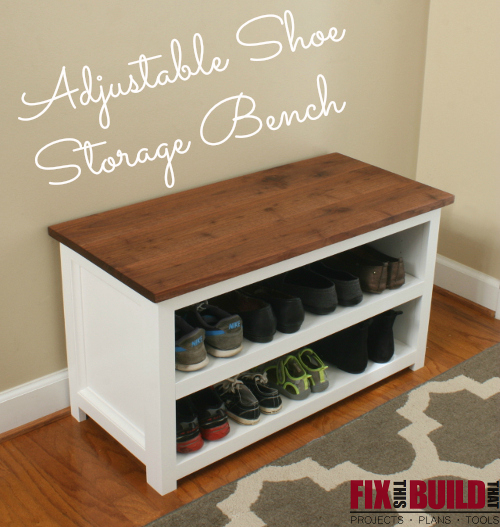 DIY Adjustable Shoe Storage Bench Plans ...