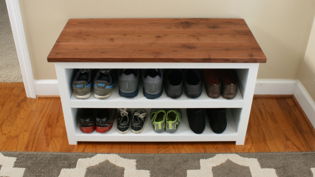 Incroyable DIY Adjustable Shoe Storage Bench Plans DIY Adjustable Shoe Storage Bench  Plans
