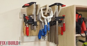 Wall Clamp Storage Rack