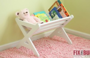 DIY Kids Bookshelf Caddy Plans