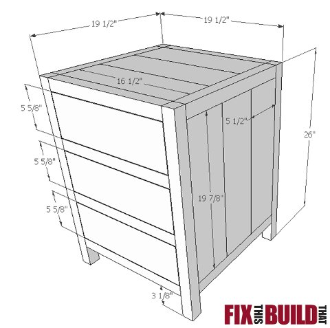 diy 3 drawer nightstand plans | fix this build that Nightstand Blueprints