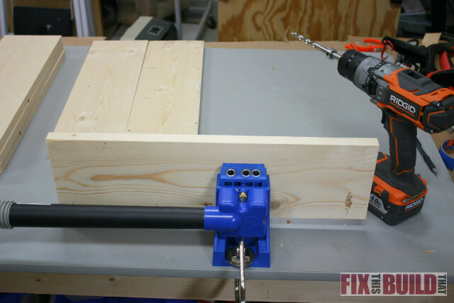 Drilling Pocket Holes in Nightstand