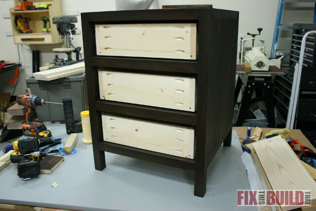 DIY 3 drawer nightstand