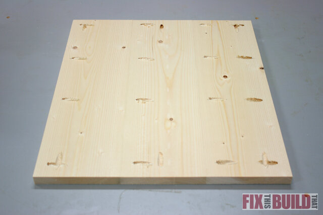 DIY nightstand panel pocket hole joinery