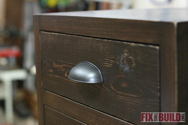 DIY 3 drawer nightstand handle