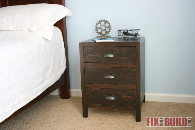 DIY 3 Drawer Nightstand 05