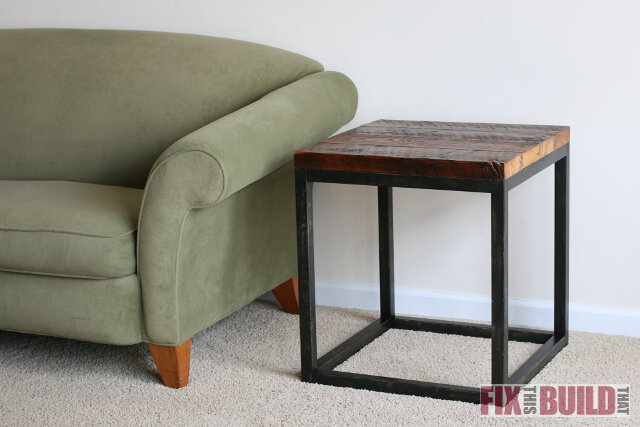 Genial Reclaimed Industrial Side Table