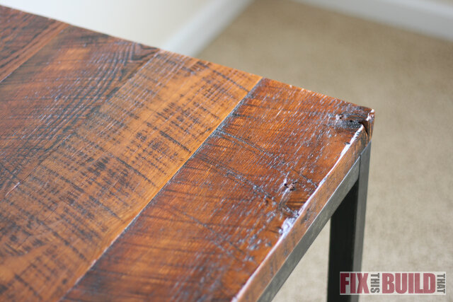 Reclaimed Industrial End Table Plans