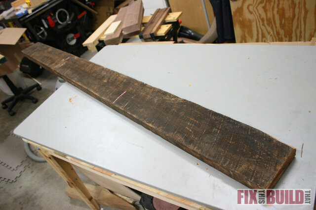 reclaimed lumber side table