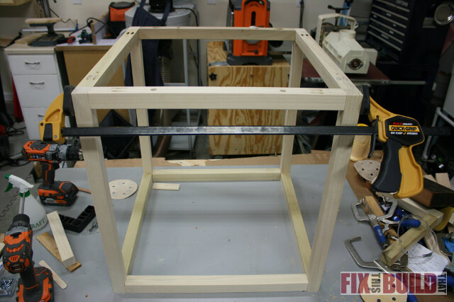 assemble reclaimed side table