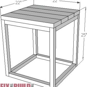 Reclaimed Industrial Side Table Plans