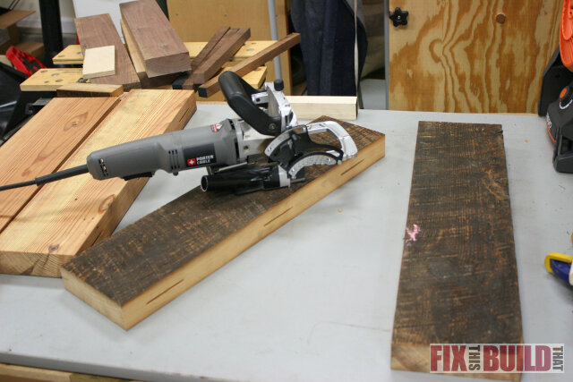 biscuit joiner reclaimed wood