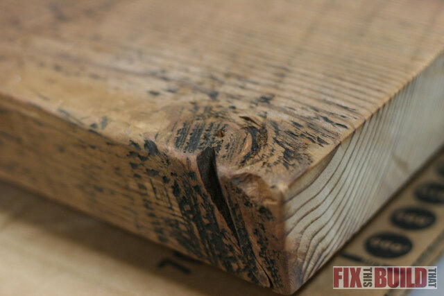 reclaimed side table knot
