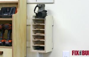 Sandpaper Disc Storage Rack