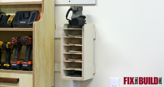 Sandpaper Disc Storage Station