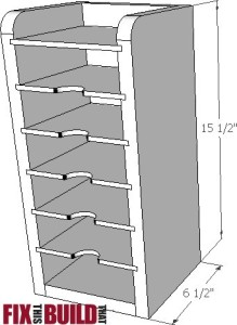 Sandpaper Disc Storage Station plan