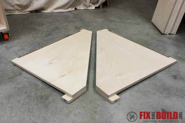 mobile miter saw stand side wing supports