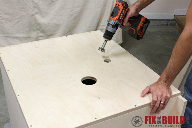 mobile miter saw stand back holes