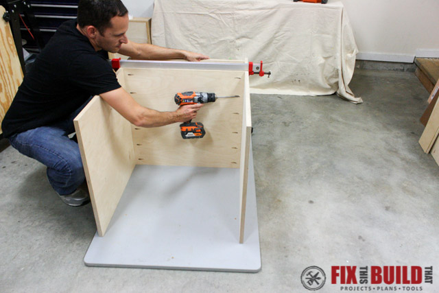 mobile miter saw stand mid shelf