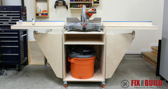 Mobile Miter Saw Station Part 2 Fixthisbuildthat
