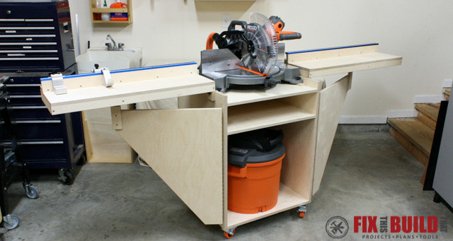 Mobile Miter Saw Station Plans