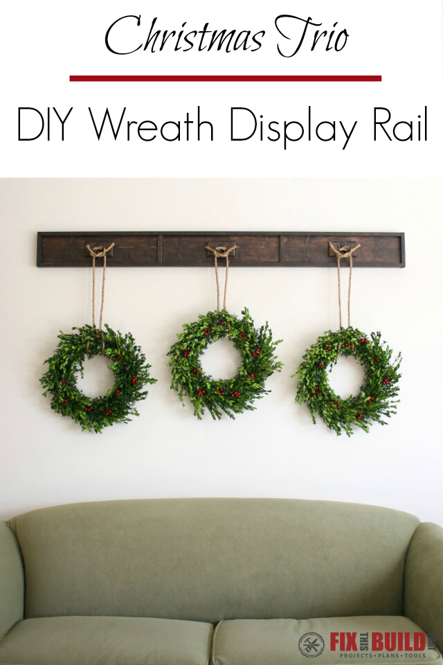 Christmas Trio DIY Wreath Display Rail