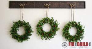 DIY Wreath Display Rail Plans
