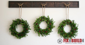 DIY Wreath Display Rail Plans