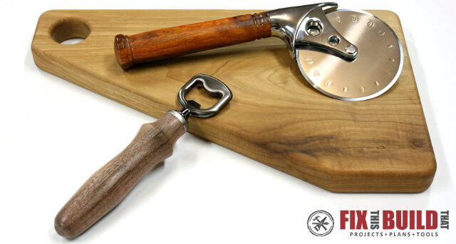 Pizza Cutter Bottle Opener Kit