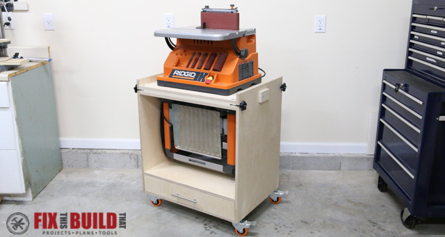 How to Build a Flip Top Tool Stand for a Planer and Sander