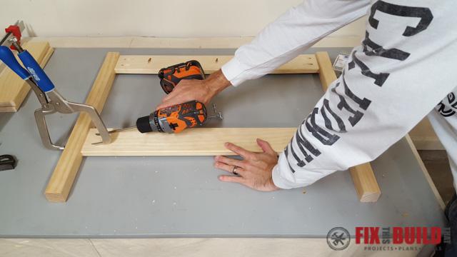 DIY Kids Workbench Front Legs