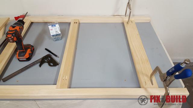 DIY Kids Workbench Back Frame