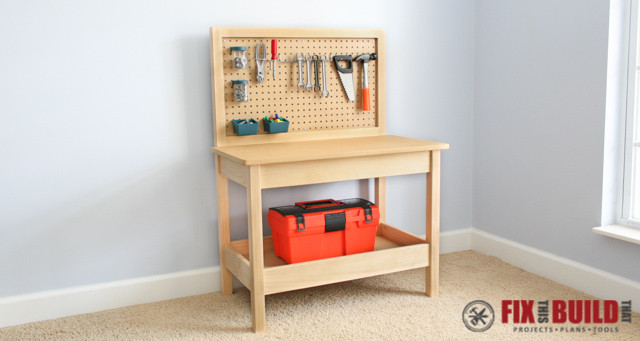 How To Make A Diy Kids Workbench Fixthisbuildthat