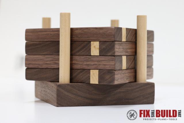 DIY Wooden Drink Coasters | FixThisBuildThat