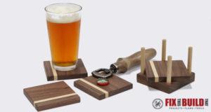 DIY Walnut Drink Coasters