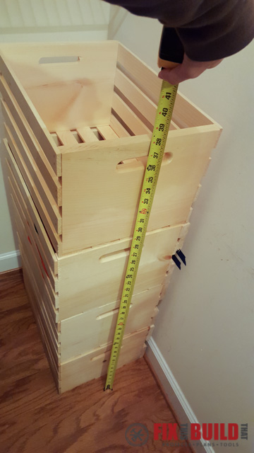 DIY Sliding Crate Closet Storage-62