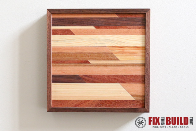 DIY Small Wooden Wall Art f-8